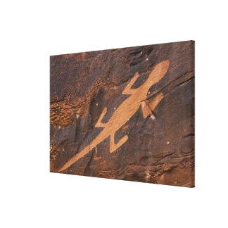 米国、ユタ。 有史以前の岩石彫刻の石の芸術の キャンバスプリント