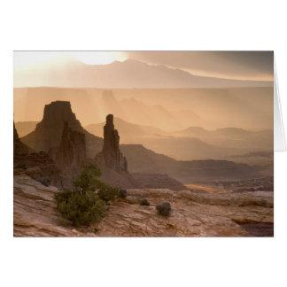 米国; ユタ; Canyonlandsの国立公園。 眺めの カード