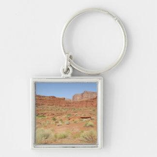 米国、ユタ、Canyonlands NPのShafer渓谷 キーホルダー