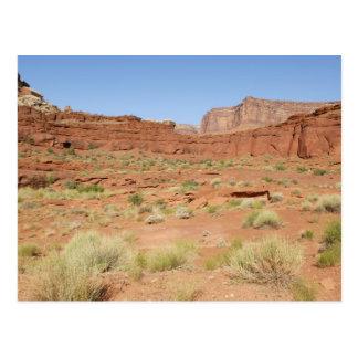米国、ユタ、Canyonlands NPのShafer渓谷 ポストカード