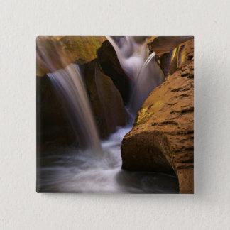 米国、ユタ、Escalanteの荒野。 2の滝 5.1cm 正方形バッジ