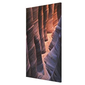 米国、ユタ、Escalante。 砂岩を繰り返すこと キャンバスプリント