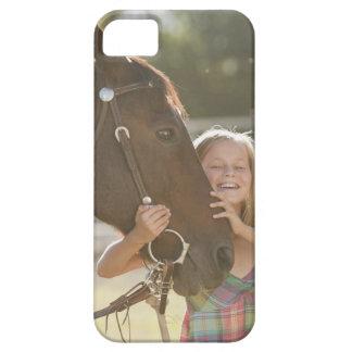 米国、ユタ、Lehiの微笑の女性のカーボーイ2のポートレート iPhone SE/5/5s ケース