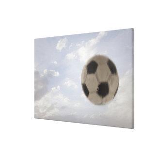 米国、ユタ、Lehiの空に対するサッカーボール キャンバスプリント