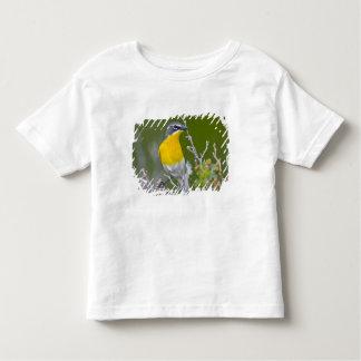 米国、ワイオミングの黄色いbreasted雑談のIcteria 2 トドラーTシャツ