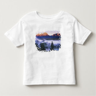米国、ワイオミングのTetonの壮大な国立公園。 トドラーTシャツ