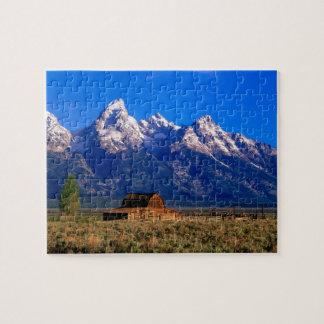 米国、ワイオミングのTetonの壮大な国立公園、朝 ジグソーパズル