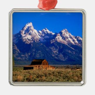 米国、ワイオミングのTetonの壮大な国立公園、朝 メタルオーナメント