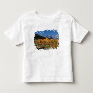 米国、ワイオミングのTetonsの壮大な国立公園 トドラーTシャツ