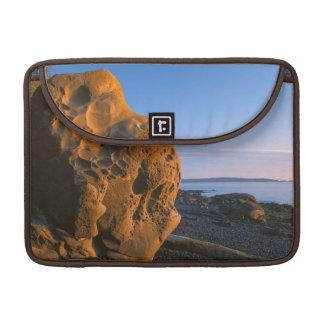 米国、ワシントン州のシャチの島、大きい石 MacBook PROスリーブ