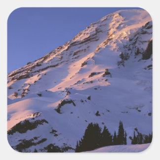 米国、ワシントン州のレーニア山国立公園 スクエアシール