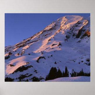 米国、ワシントン州のレーニア山国立公園 ポスター