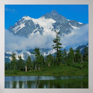 米国、ワシントン州の北の滝の国立公園10 ポスター