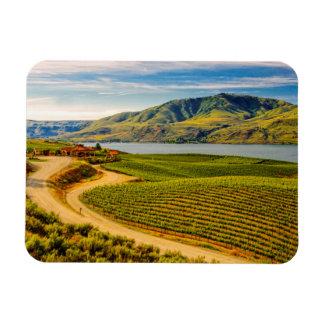 米国、ワシントン州の湖Chelan。 Bensonのブドウ園 マグネット