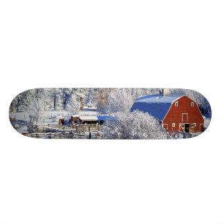 米国、ワシントン州のMethowの谷、納屋 スケートボードデッキ