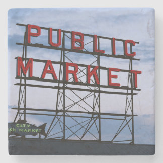 米国、ワシントン州、シアトルのパイクの場外市場 ストーンコースター