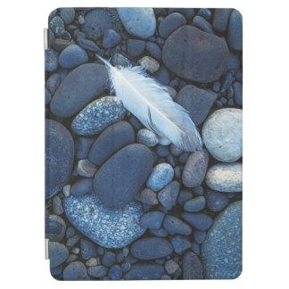 米国、ワシントン州、スネーク川の砂利のバー iPad AIR カバー