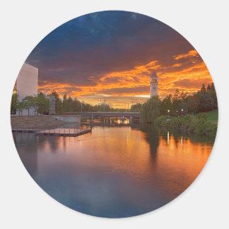 米国、ワシントン州、スポケーンの河岸地域公園 ラウンドシール