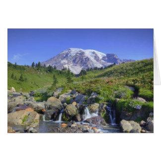 米国、ワシントン州、レーニア山NP、レーニア山および2 カード
