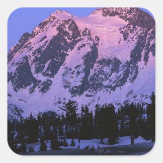 米国、ワシントン州、北の滝のMt. Shuskan スクエアシール