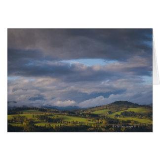 米国、ワシントン州、緑のScenicsの眺め カード