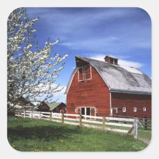 米国、ワシントン州、Ellensburgの納屋 スクエアシール