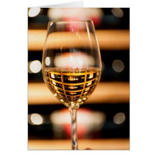 米国、ワシントン州、Walla Walla。 ワイングラス カード