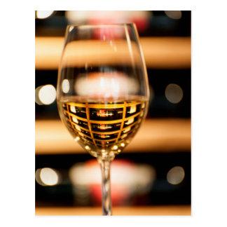 米国、ワシントン州、Walla Walla。 ワイングラス ポストカード