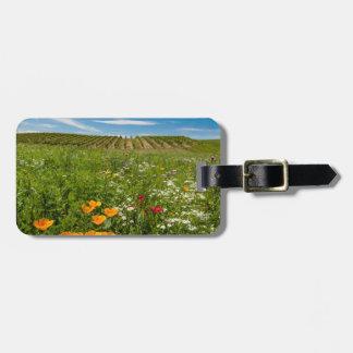 米国、ワシントン州、Walla Walla。 野生の花 ラゲッジタグ