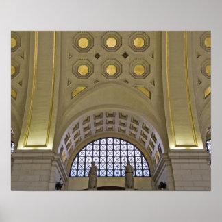 米国、ワシントンD.C.、天井のD.C. View ポスター