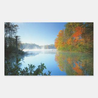 米国、ヴァージニアの妖精の石造りの州立公園 長方形シール