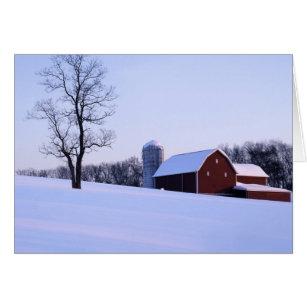 米国、ヴァージニア、シェナンドー渓谷の納屋 カード