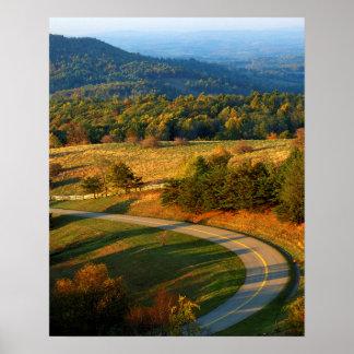 米国、ヴァージニア、Patrick郡、青いリッジ ポスター