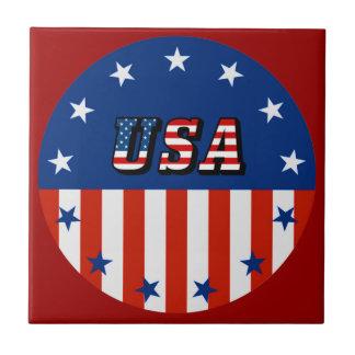 米国-円のセラミックタイルの米国旗及び星 タイル