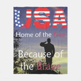 米国-勇敢ののために自由のの家 フリースブランケット