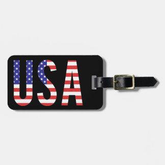 米国-米国の旗の手紙 ラゲッジタグ