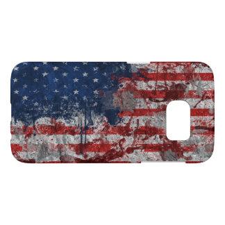 米国-米国旗の点 SAMSUNG GALAXY S7 ケース