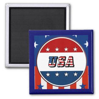米国-米国旗は円#2 Refrigの磁石を主演します マグネット