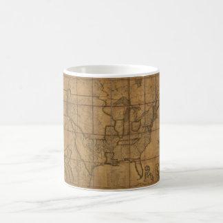 米国(1819年)の地図 コーヒーマグカップ