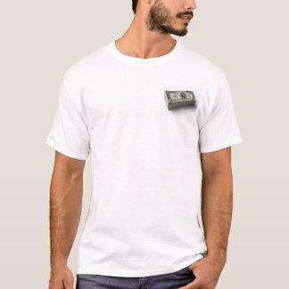 米国$1,000手形の積み重ね Tシャツ