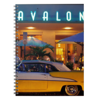 米国、FL、マイアミの夜の南ビーチ ノートブック