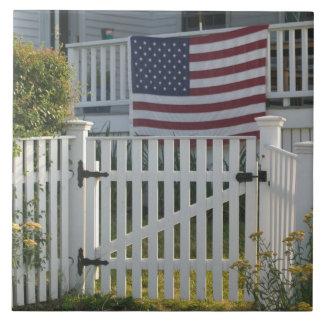 米国、Massachusettes、グロスター: 愛国心が強い塀 タイル