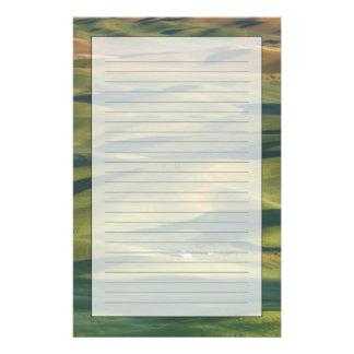 米国、WA、Whitman Co.のPalouseの圃場からの 便箋