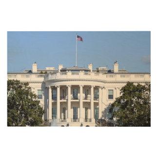 米国- Washington D.C.のホワイトハウス ウッドウォールアート