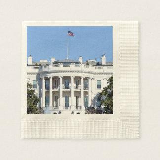 米国- Washington D.C.のホワイトハウス 縁ありカクテルナプキン