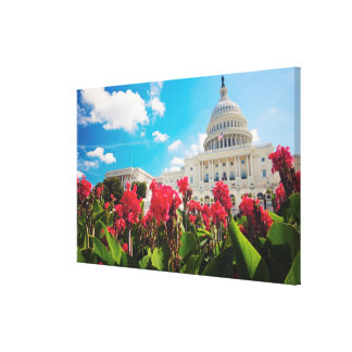 米国、Washington D.C.の国会議事堂の建物 キャンバスプリント