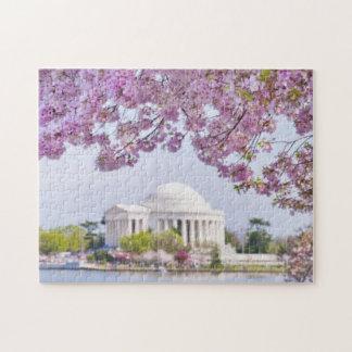 米国、Washington D.C.の開花の桜 ジグソーパズル