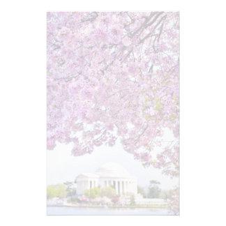 米国、Washington D.C.の開花の桜 便箋