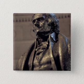 米国、Washington D.C。 トーマス・ジェファーソンの記念物 缶バッジ