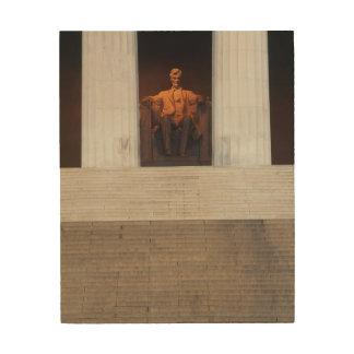 米国、Washington D.C.、リンカーン記念館 ウッドウォールアート